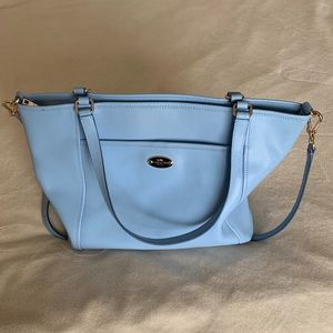 Baby blue Coach purse
